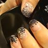 Black Glitter Gel Nails