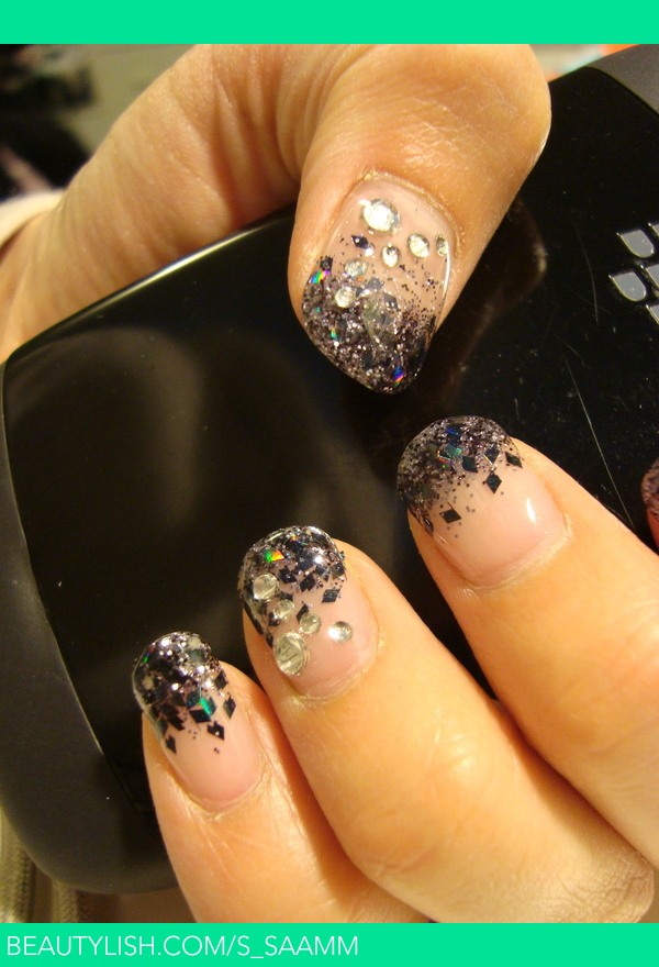 Black Glitter Gel Nails Sam Ms Ssaamm Photo Beautylish