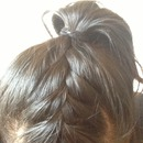 French braid pony tail