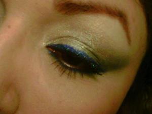 Sugarpill's Royal Sugar(top and bottom) and I-Candi Cosmetics(top) for eyeliner