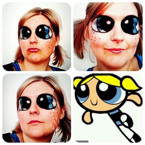 My first go at cartoon makeup :) I tried to do the blue power puff girl Bubbles! I'm not completely happy with the result but I guess it's an okay first try :)