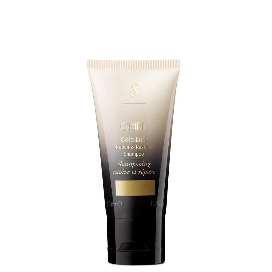 Oribe Gold Lust Repair & Restore Shampoo 1.7 fl oz product swatch.