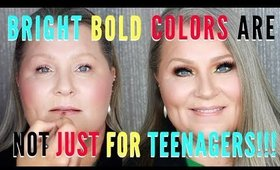 How To Wear Bright Bold Colors for Mature Women Over 40 | mathias4makeup