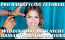 HOW TO TURN WEDDING DAY HAIR INTO RECEPTION HAIR 2 WAYS BRIDAL TRANSFORMATIONS - mathias4makeup