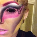 Close up of fantasy makeup