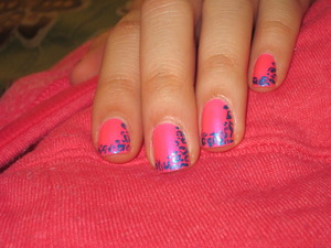 Pink & Blue Leopard