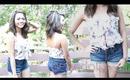 Summer Look #6 ♥ High Waisted Shorties & Loose Top