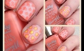 A montage of nail stamping /Nail manicures