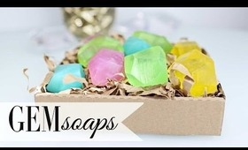 DIY Geodesic Gem Soap - Easter Party Favors by ANNEORSHINE