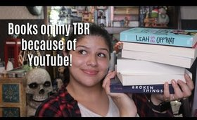 Books that are on my TBR because of YouTube! || Marya Zamora