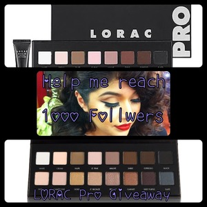 @MakeupByRiZ If you have a Instagram help me reach 1000 followers. I will be giving away a Lorac pro palette! Thank you for the support xoxo