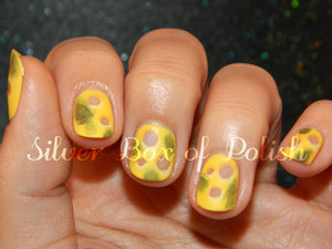 Nail art created for National Moldy Cheese Day!