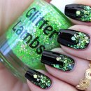 Lime Green Glitter Gradient