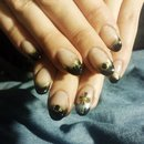 Black And Gold Gradient Tip