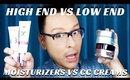 High End VS Drugstore Moisturizers & CC Creams Pro Makeup Tutorial- mathias4makeup