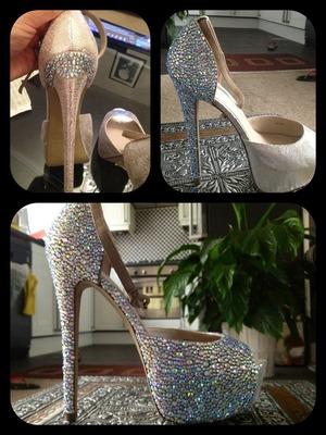Swarvoski shoes I made!!