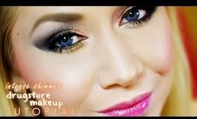 Shimmer Smokey Eye Drugstore Makeup Tutorial