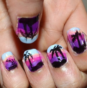 For method check out: http://mishmreow.blogspot.co.uk/2012/05/notd-sunset-nails-moyou-massive-nail.html