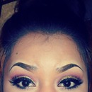 Glittery Eyes & Bun