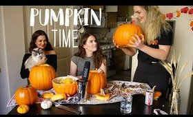 ASMR Pumpkin Carving + Spooky Story Time!