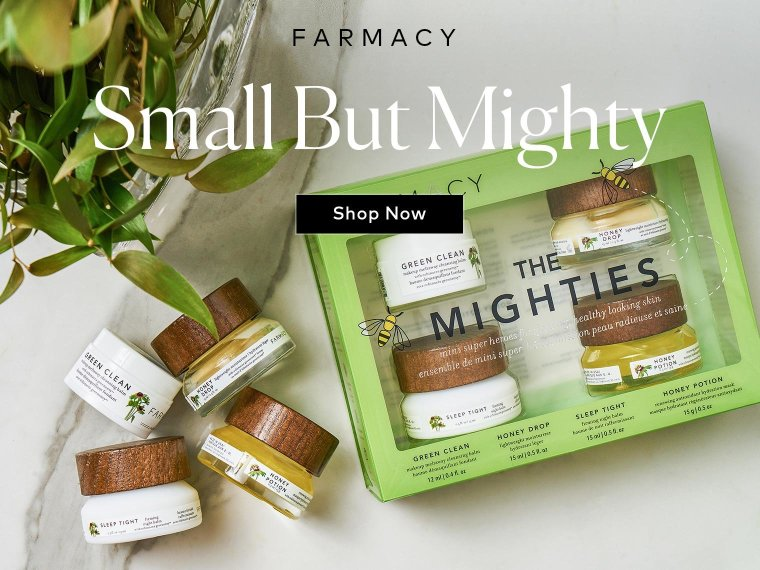 Get nourished, glowing skin with these mini superheroes from Farmacy – Shop now