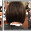 A-Line (gratuated concave) cut on my mom!