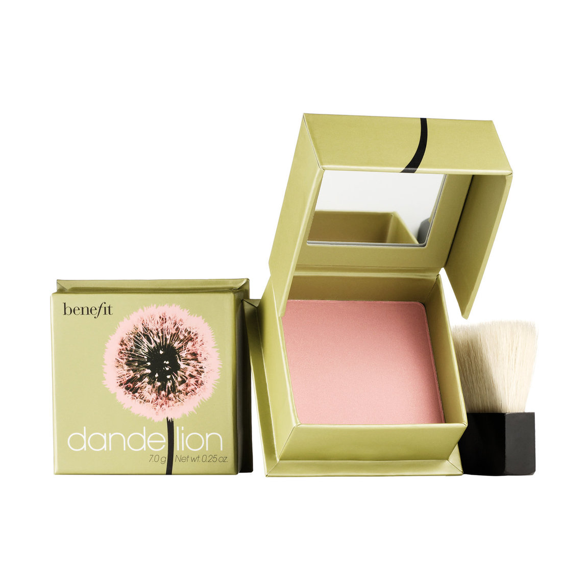 Benefit Cosmetics dandelion Brightening Finishing Face Powder product smear.
