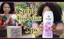 Spring Essentials + Tips