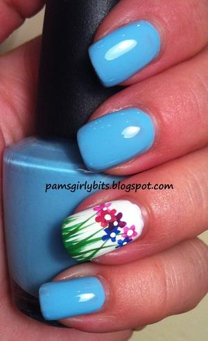 flowers nail art 085