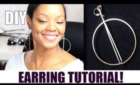 DIY Earring Tutorial | Geometric Jewelry Design & How To