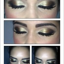 gold bronze eyeshadow