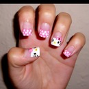 hello kitty spring nails