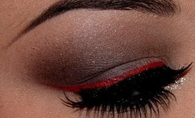 Smokey Brown with Red Winged Liner!!!