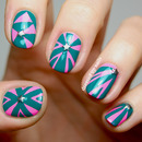 Bright, contrasty geometric nails