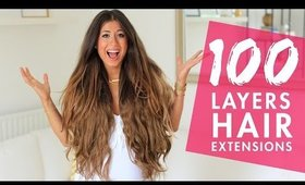 100 Layers of Hair Extensions | Luxy Hair