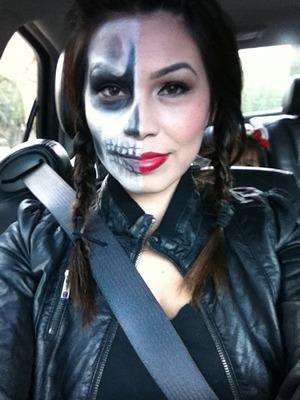 Half skull Half pin up :)