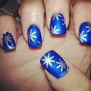 Blue With Chrome Snowflakes