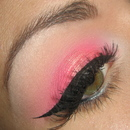 Hot pink make-up tutorial