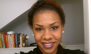 1 day b4 I clipped out the bit of relaxer that hadn't already grown out