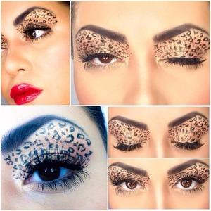I created this look inspired by my favorite wild animal aka leopard. Really in love with the animal print makovers. I used stilla waterproof liquid eyeliner, but it didt come out as sharp as I wanted, maybe because I have had it for a while now. I hope you guys like it.