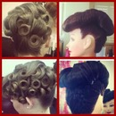 Updos I did at school