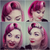 Classic pin up vintage curl set