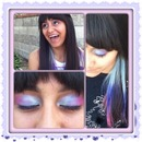 Hair color and eyeshadow to match:)