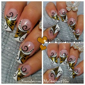 GOLDEN DIVA NAIL ART DESIGN TUTORIAL https://www.youtube.com/watch?v=l2sAYZ951D0