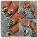 Golden Diva Nail Art Design Tutorial