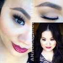 Marc Beauty Fall Berry-Wine Lips Makeup Look