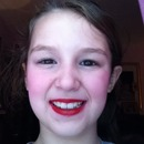 nine year old. put on my makeup!!!