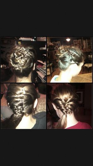 My friends hair that I did