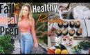 Fall Cozy Meal Prep + Healthy Pumpkin Spice 2018