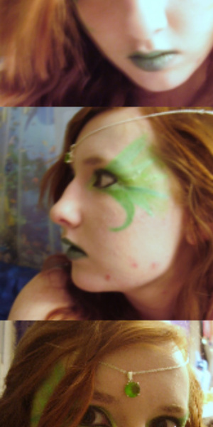 I was experimenting with the greens in my FASH 120 palette, and came up with this forest faerie-type look